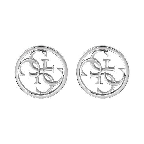 Guess Pendientes de botón Mujer chapado en plata - UBE28073