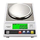 CGOLDENWALL Báscula de Laboratorio de alta Precisión 300-2000g 0.01g Balanza Analítica Báscula de Cocina Báscula Científica Báscula de Conteo con Función de Conteo y Pesaje (2000g,0.01g)