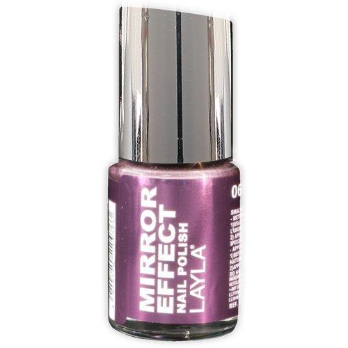 Layla Cosmetics Mirror Effect nagellak - rood hot, 1-pack (1 x 0,01 l)