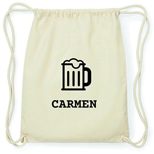 JOllify Turnbeutel - Happy Birthday - für Carmen - Bier Gruß
