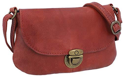 Gusti Umhängetasche Leder - Rona Handtasche Ledertasche Vintage Braun Leder