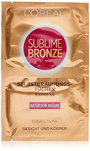 L'Oréal Paris Dermo Expertise Sublime Bronze Tücher, Selbstbräuner, 2 x 5,6ml