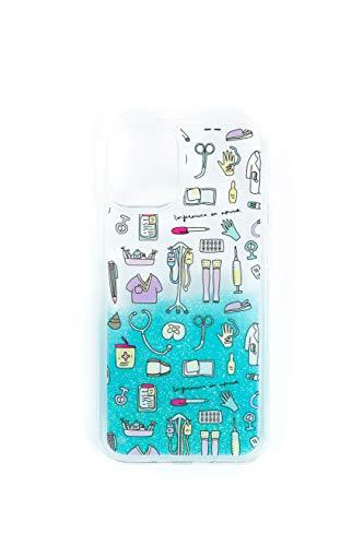 Wondee Global Brands Services Carcasa de TPU Trasparente con diseño de Utensilios de enfermería de Enfermera en Apuros para iPhone 11