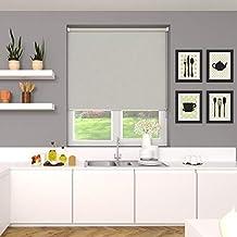 Blinds2Curtains Polyester Grey 150 cm x 200 cm Allison Blackout Roller Blind