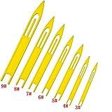ICE SEA 7 PCS White Plastic Fishing Line Equipment Repair Netting Needle Shuttles-Size:3#,4#,5#,6#,7#,8#,9#