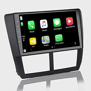 ViaBecs Android 10.0 Car Stereo with Bluetooth 5.0 Wireless Carplay for Subaru XV Forester WRX 2008-2012 Single Din Head Unit Car Audio 1280 x 720 Google Maps Split Screen USB RDS Radio SWC 4GB/64GB