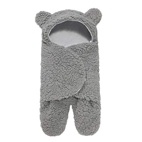 SENFEISM Swaddle Blanket Newborn Sleeping Wrap Swaddle Baby Cotton Plush Boys Girls Cute Receiving Blanket Sleeping Bag Sleep Sack