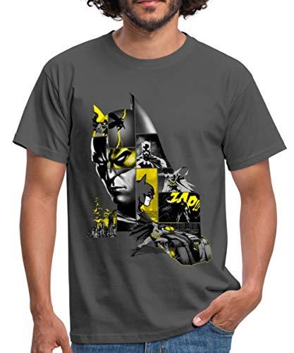 Batman 80 Ans Batmobil T-Shirt Homme, L, Gris Graphite