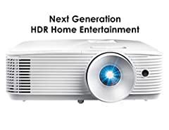 NEXT GENERATION TECHNOLOGY: Enjoy clear detailed 1080p (1920×1080) images (with 4K input) and 50,000:1 contrast ratio renders sharp and detailed images from high definition content without downscaling or compression HDR COMPATIBLE: HDR10 technology (...