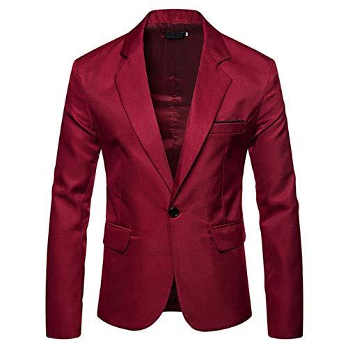 Giacca da uomo casual leggera giacca da lavoro blu Rosso S