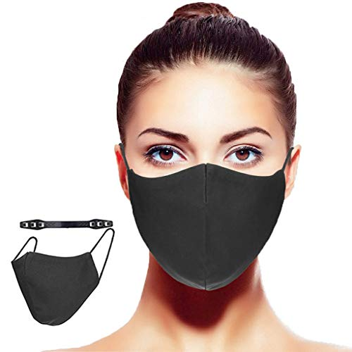 Crom Cr2 Mund und Nasenschutz, Stoff-waschbar und wiederverwendbar- 3/5 Stück, Größe: S/M, L/XL (3 Stück L/XL (56-64cm))