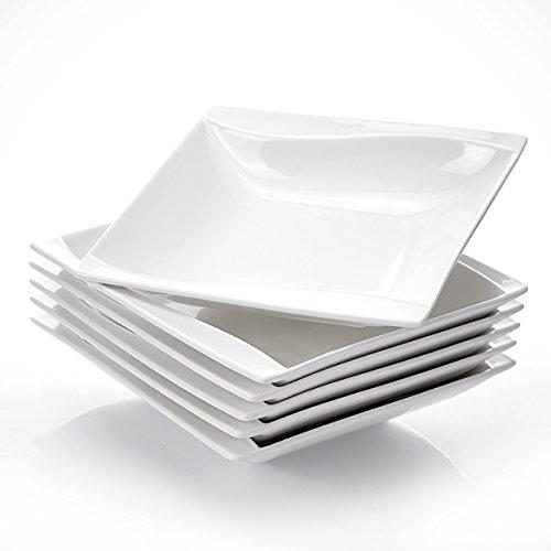MALACASA, Serie Carina, 18 TLG. Porzellan Suppenteller Set