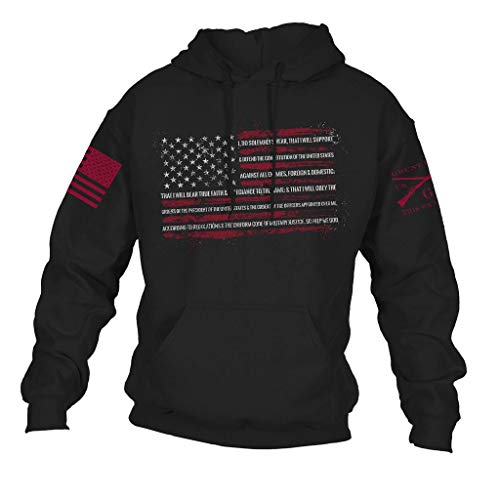 Grunt Style The Oath Men's Hoodie, Color Black, Size Large