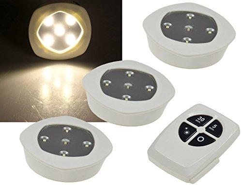LED Unterbauleuchte Klebeleuchte Funkfernbedienung 2,4GHz warmweiss Batterie-Betrieb sehr flach