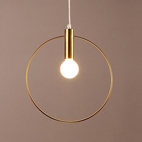 Moderno minimalista colgante lámpara para dormitorio salón camino comedor balcón Hall techo lámpara redonda cobre ahorcamiento lámpara iluminación elegante de techo techo lustre E14max 40W ø28cm