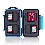 Ares Foto® MC-2 Speicherkarten Schutzbox • Memory Card Case • Card Safe • Aufbewahrung & Transport für 8 Stück SD Karten und 4 Stück Compact Flash Karten (CF Cards)