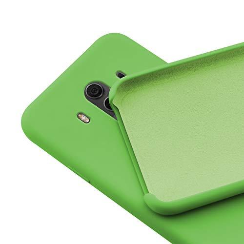 N NEWTOP Custodia Cover Compatibile per Huawei Mate 10 PRO, Ori Case Guscio TPU Silicone Semi Rigido Colori Microfibra Interna Morbida (Verde)