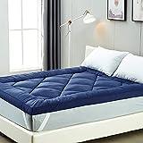 IMISSYOU Bed Topper, suave colchón, microfibra, 6 cm, hipoalergénico y resistente a los ácaros del polvo, lavable, versión de prueba de 40 noches (azul, 90 x 190 cm)