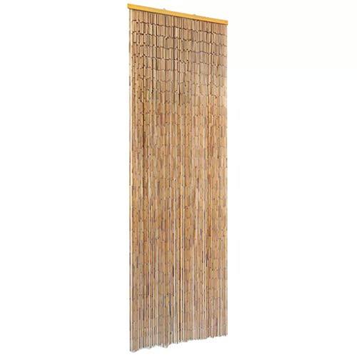 vidaXL Bamboo Beaded Curtain for Doorway, Beaded Curtain for Closets, Natural Door Beads Decoration, Bamboo Beads for Doorways, Handmade 22x72.8 inch