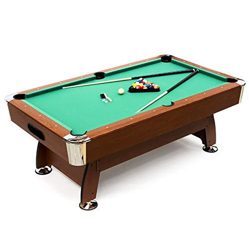 Devessport - Mesa de Billar Semi Profesional Cortés - Fácil Montaje - Incluye niveladores de Patas - Ideal para Jugar con Amigos - Medidas: 211.5 x 120.5 x 78 Cm