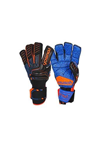 Reusch Herren Attrakt G3 Fusion Goaliator Torwarthandschuhe, Black/Shocking orange/deep Blue, 10.5