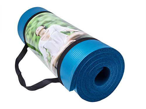 QUBABO Yoga Mat Hoge Dichtheid Anti-Tear 10mm Dikke Anti-lip Oefening Mat Voor Pilates, Fitness, Workout en Stretch met Draagband