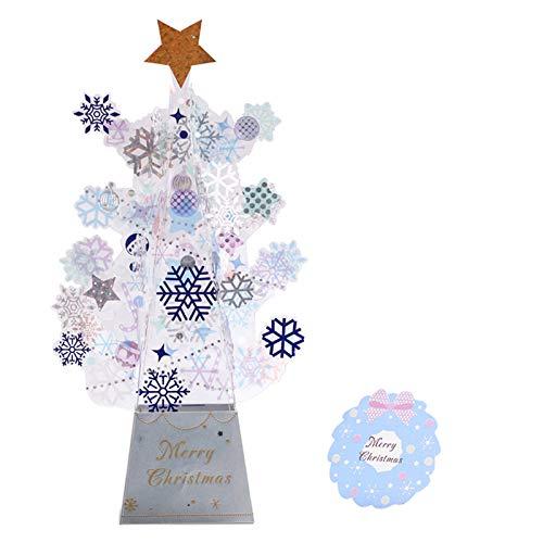 Youbei 3D Pop-up Christmas Tree Castle Greeting Card Birthday Card Invitation