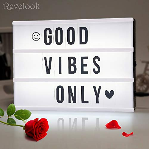 Light up Box Sign with Letters - A4 Size...
