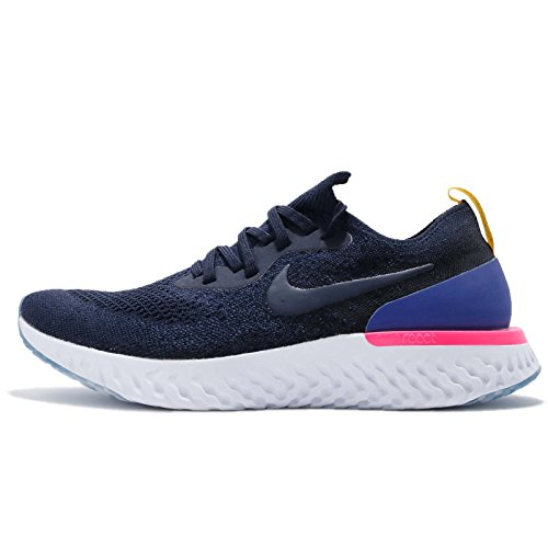 Nike Men's Epic React Flyknit Running Shoes, Blue College Navy College Navy Race 400, 7 UK