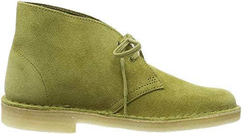 Clarks Damen. Desert Boot, Grün (Khaki Suede), 39 EU