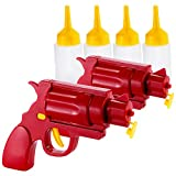 infactory Senfpistole: 2er-Set 2in1-Ketchup- und Senf-Pistole (Pistole für Mayonaise)