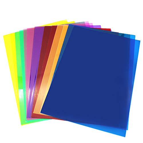 D-Orange 14 Stücke Gel Farbfilter Quadratische Durchsichtige Filterset Farbkorrektur 11.7 x 8.3 Zoll für Fotostudio-Blitz, LED-Videoleuchte, DJ-Licht