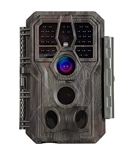 """Trail Game Camera 24MP 1296P H.264 MP4 MOV Video 100ft Night Vision 0.1S Trigger Motion Activated Easy Operate Waterproof Wildlife Hunting Deer Cam Password Protected 2.4"""" Color LCD"""
