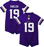 Outerstuff NFL Infants Home Color Game Day Romper Player Jersey (Adam Thielen Minnesota Vikings Purple Home, 18 Months)