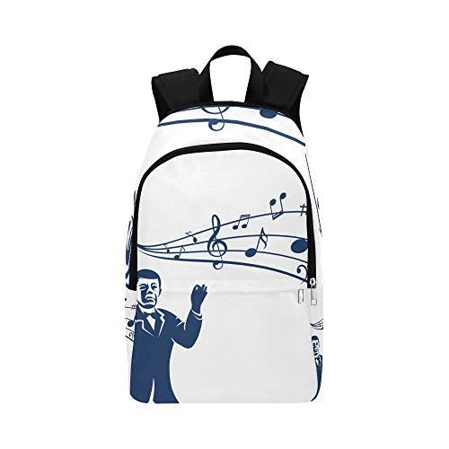 Backpack Shoulder Bag Cute Chorus Commander for Men Women Teachers Bookbag Lightweight Bookbags Lightweight High School Traveling for Traveler