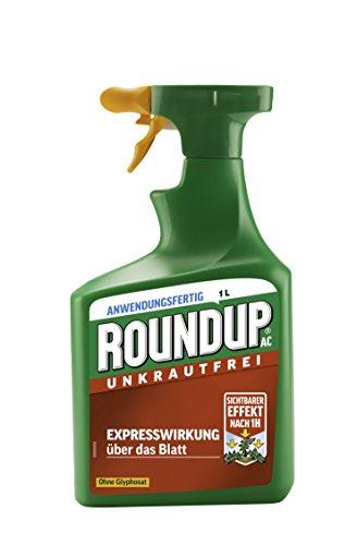 Roundup AC Unkrautfrei, Unkrautvernichter, zur Bekämpfung von Unkräutern, Gräsern und Moos , 1 Liter Sprühflasche