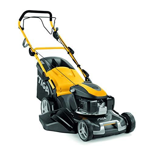 STIGA COMBI 50 SVQ H Benzin Rasenmäher Motor-Rasenmäher 145 cm3 2,75 kW, Zugantrieb, Geschwindigkeitsvariator, Stahlgehäuse, Schnittbreite 48 cm, Mulchsystem