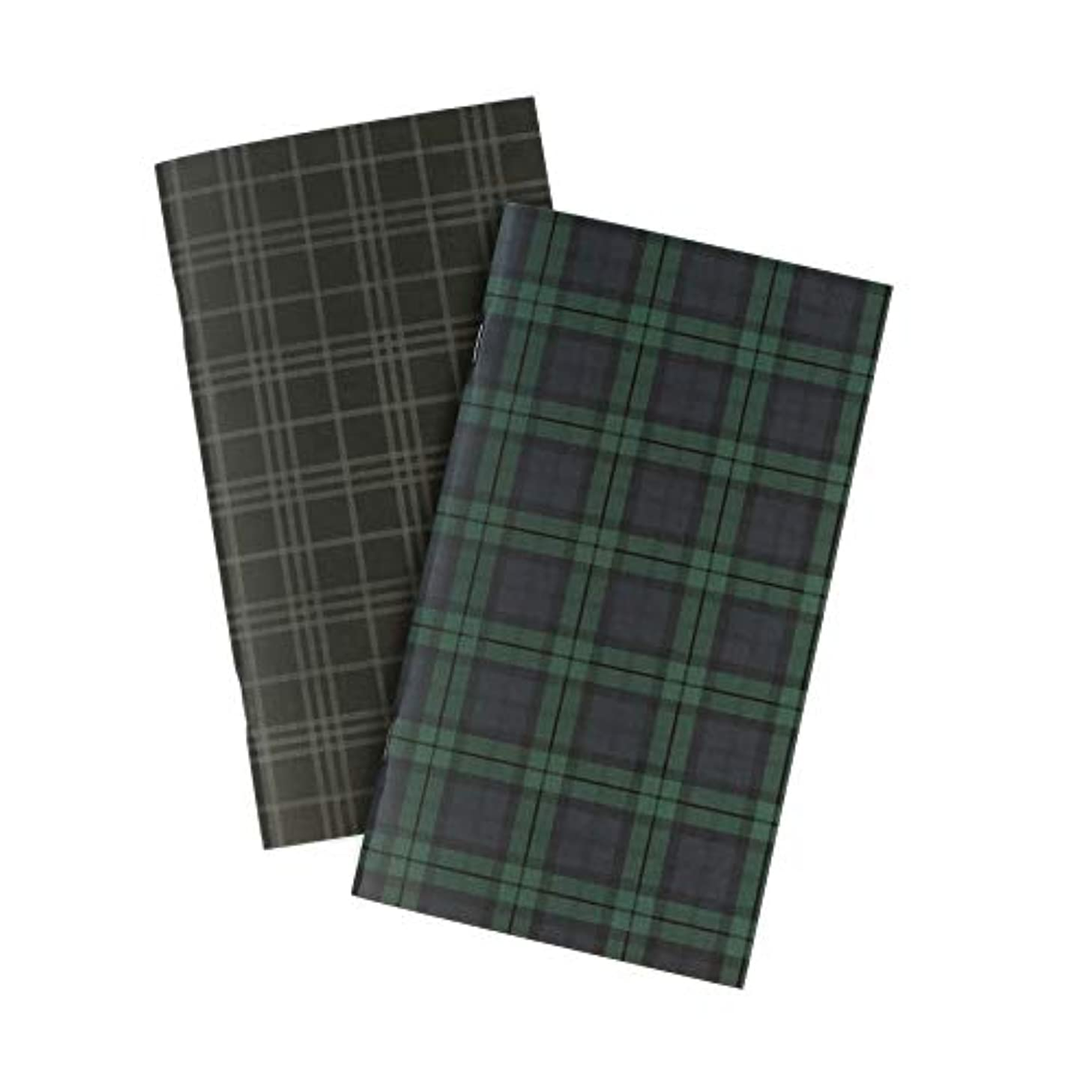 Echo Park Paper Company TNBW1001 Black Watch Travelers Notebook Insert -Blank Paper, Green