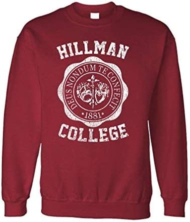 80s Sweatshirts, Sweaters, Vests | Women HILLMAN COLLEGE - retro 80s sitcom tv - Fleece Sweatshirt  AT vintagedancer.com