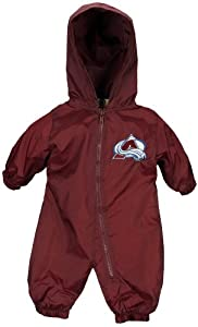 NHL Colorado Avalanche Windbreaker Hoodied Romper Burgundy
