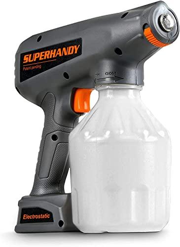 SuperHandy Disinfecting Nano Sprayer Electrostatic ULV Fogger Handheld Portable Cordless 34oz Capacity 12V Lithium Ion Powered Sanitizer Disinfectant Odor Eliminator Outdoor Plant Repellent Control