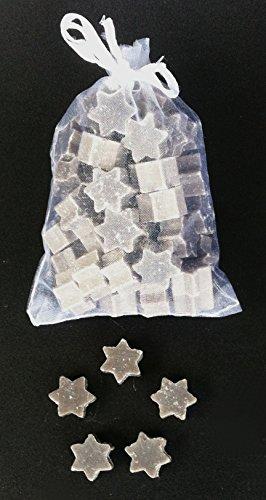 florex Lait de brebis Savon Mini Mini Étoile Lot de 50 Rose de Noël dans pochette en organza dragées
