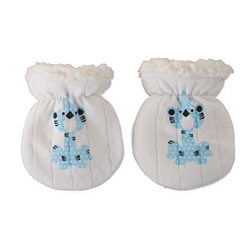 moregirl Guantes de Invierno Mitones Anti-Agarre Thicken Warm Fleece Glove Recién Nacido Calentador de Manos
