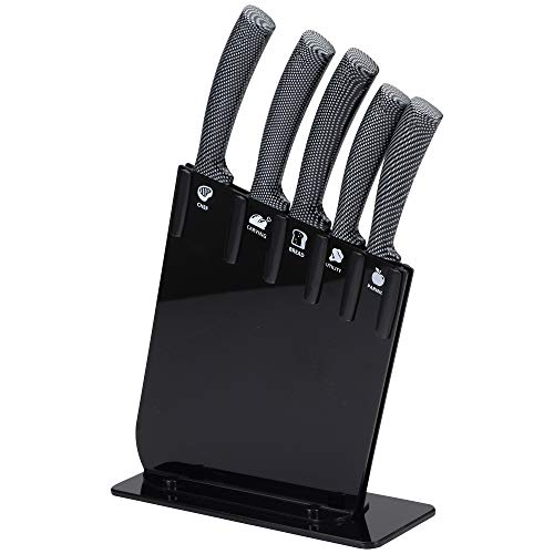 San Ignacio Set 6pc cuchillos JARAMA GT tacoma negra acero inoxidable