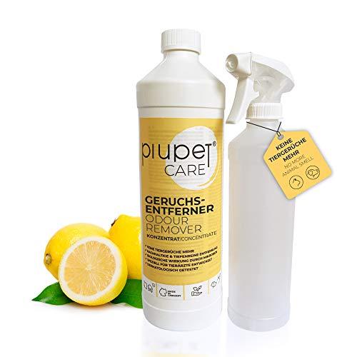 PiuPet® Geruchsentferner Konzentrat für Katzen und Hunde - Effektiver Geruchskiller - Katzenurin Entferner - Tier-Geruchsentferner - Geruchsneutralisierer (1L)