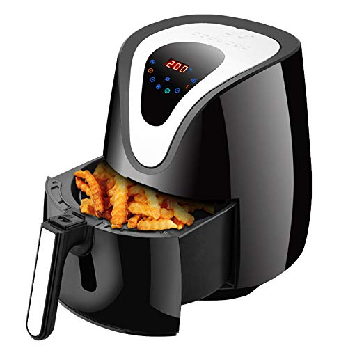 XIANG Air Fryer, Friteusen, 1500W Multi-Functional Digital Health Cooker Timer Ofen Low Fat Oil Free 6 Preset Lebensmittel Grilling Roasting Fritteuse