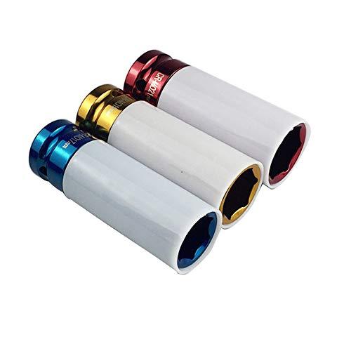 GFHDGTH Beschermhoezen voor banden, 3 stuks, metaallegering, 17/19/21 mm, diepe botsmoer voor sleutels, auto, fietstraining, reparatieset