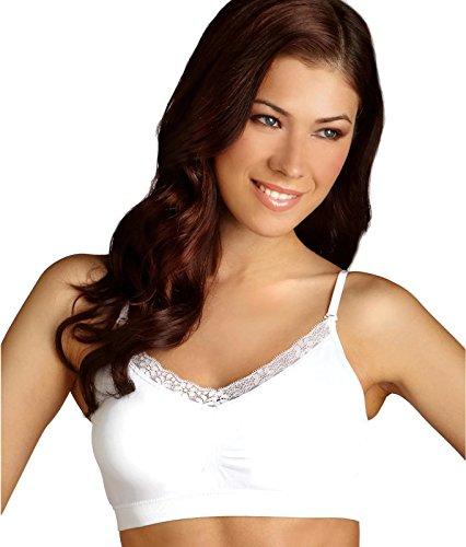 Coobie Women's Strappy V-Neck w/Lace White Bra One Size