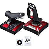 USB Flightstick PC Joystick, Flight Stick Hotas PC Game PXN-2119II, with Vibration Simulation Controller for Flight Stick Simulation Games