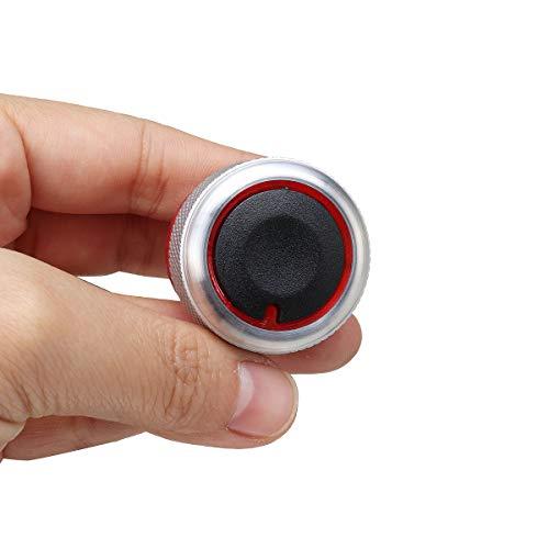 C-FUNN Zwart Zilver 3 stks Aluminium Verwarming Knoppen Knoppen Set Voor PEUGEOT 206 207 C2 Black